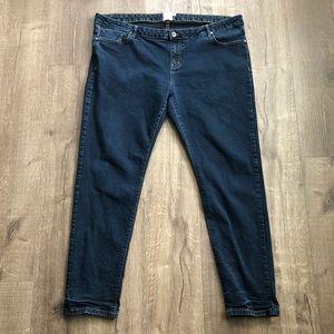 ASOS Curve Dark Wash High Rise Skinny Denim Jean